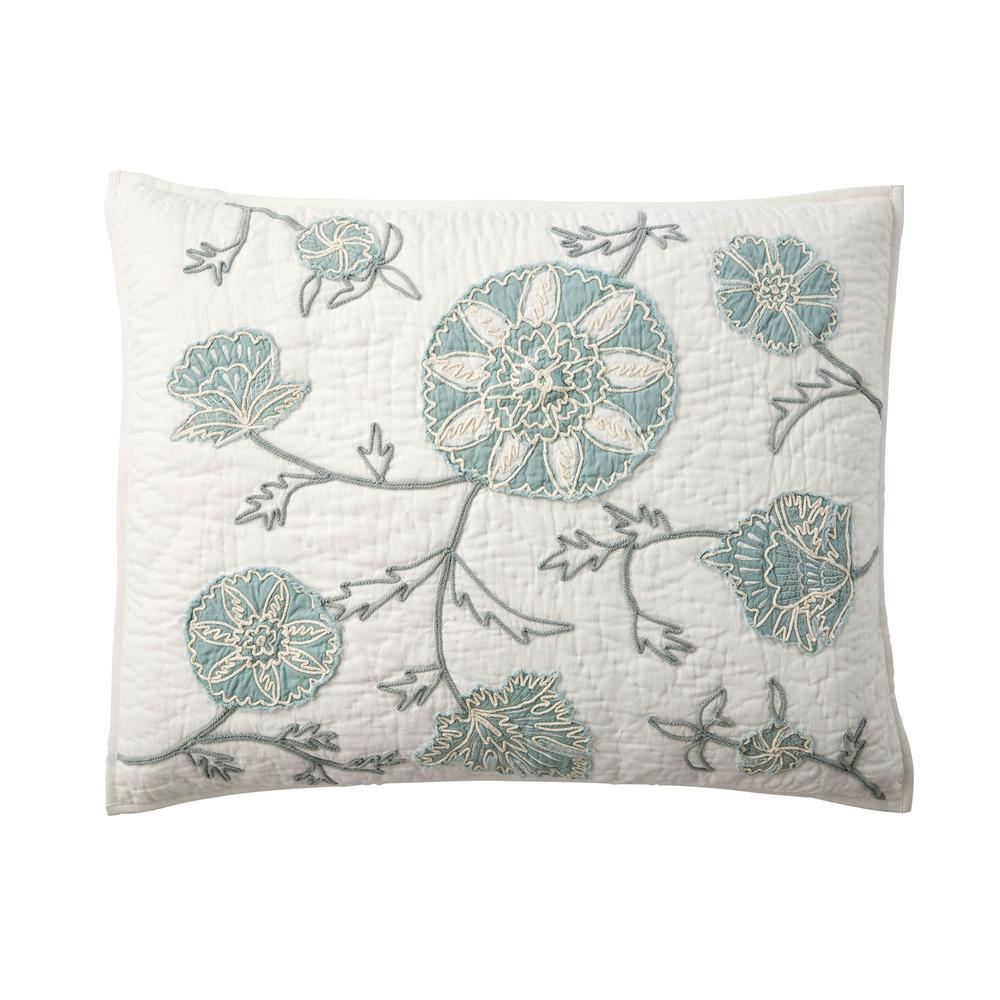 The Company Store Alden Floral Cotton Standard Sham 50361F-STD-MULTI