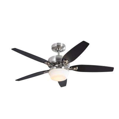 Arrano 52 in. Integrated LED Indoor Brushed Nickel DC Ceiling Fan with Light Kit and Remote Control