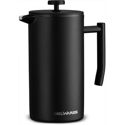 50 oz. Stainless Steel French Press (6-Cups)