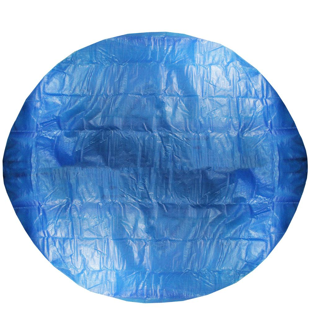 Pool Central 18 ft. Round Prompt Set Blue Solar Pool Cover-32149551 ...