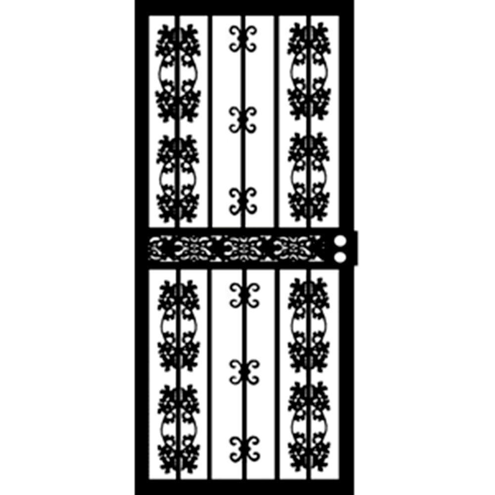 32 in. x 80 in. 413 Series Black Colorado Security Door