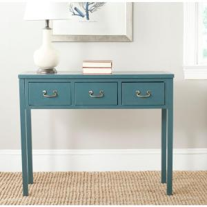 Cindy Slate Teal Storage Console Table