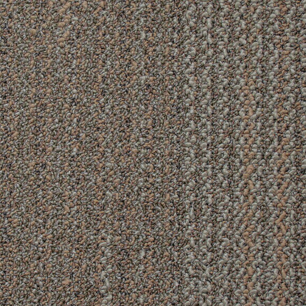 Liberty Rye Toast Loop 19.7 in. x 19.7 in. Carpet Tile (20 Tiles/Case)
