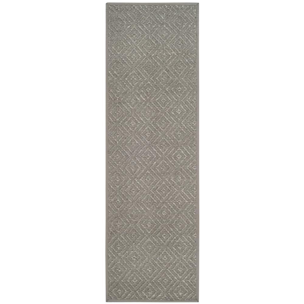 Natural Fiber Light Gray/Gray 2 ft. 6 in. x 8 ft. Runner
