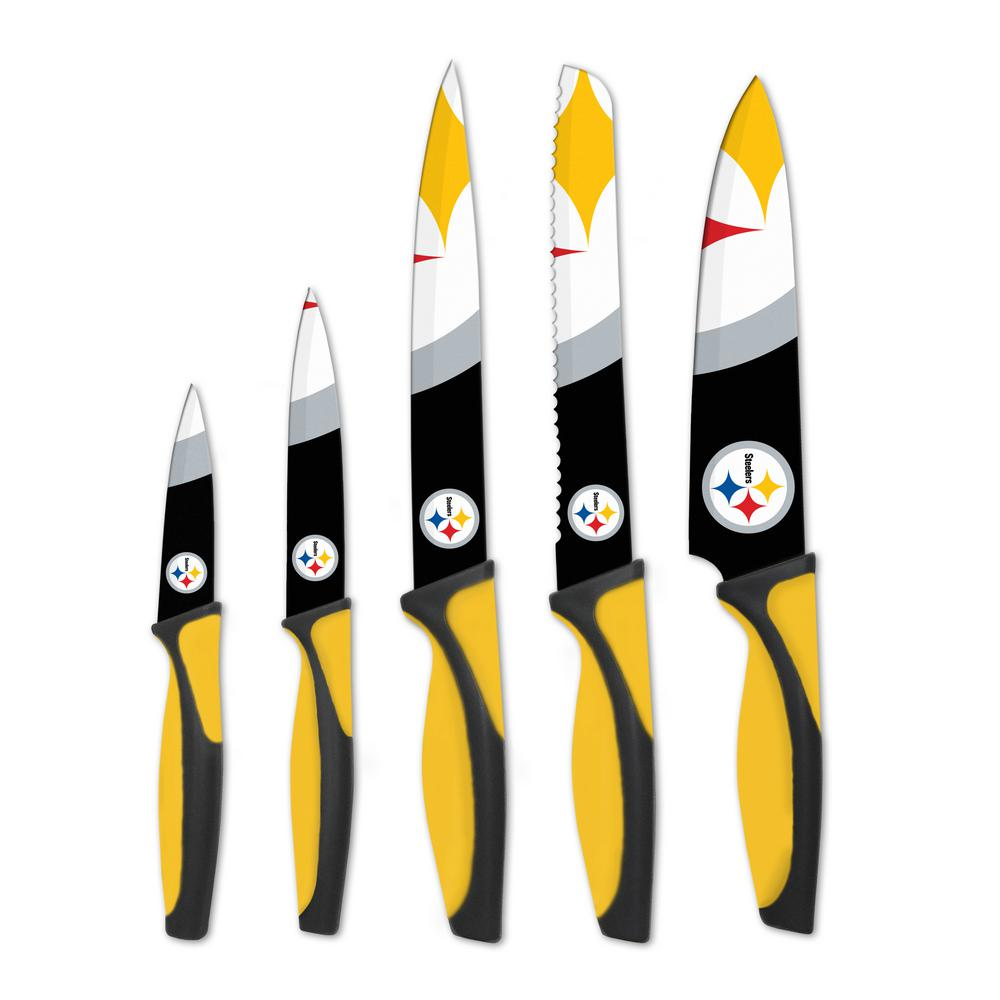 NFL Pittsburgh Steelers 5-Piece Kitchen Knives