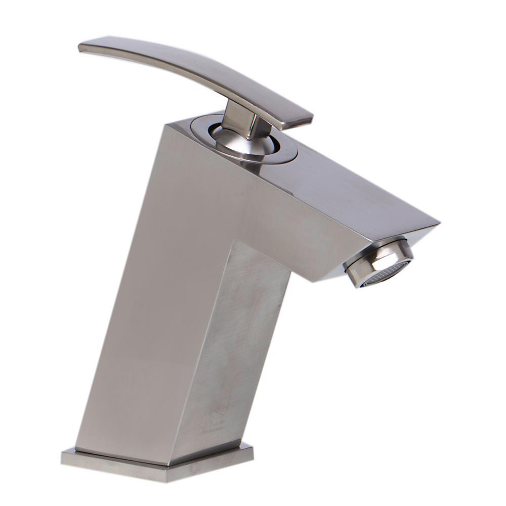 AB1628-BN Single Hole Single-Handle Bathroom Faucet in Brushed Nickel