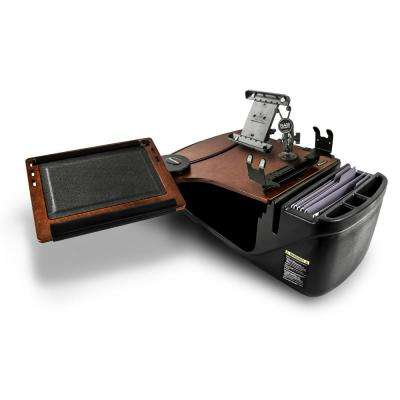 Reach Desk Front Seat Mahogany with Printer Stand, X-Grip Phone Mount and iPad/Tablet Mount