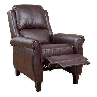 Haddan Burgundy PU Leather Recliner