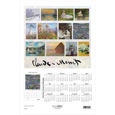 19 in. x 12.5 in. Claude Monet - 2019 Calendar