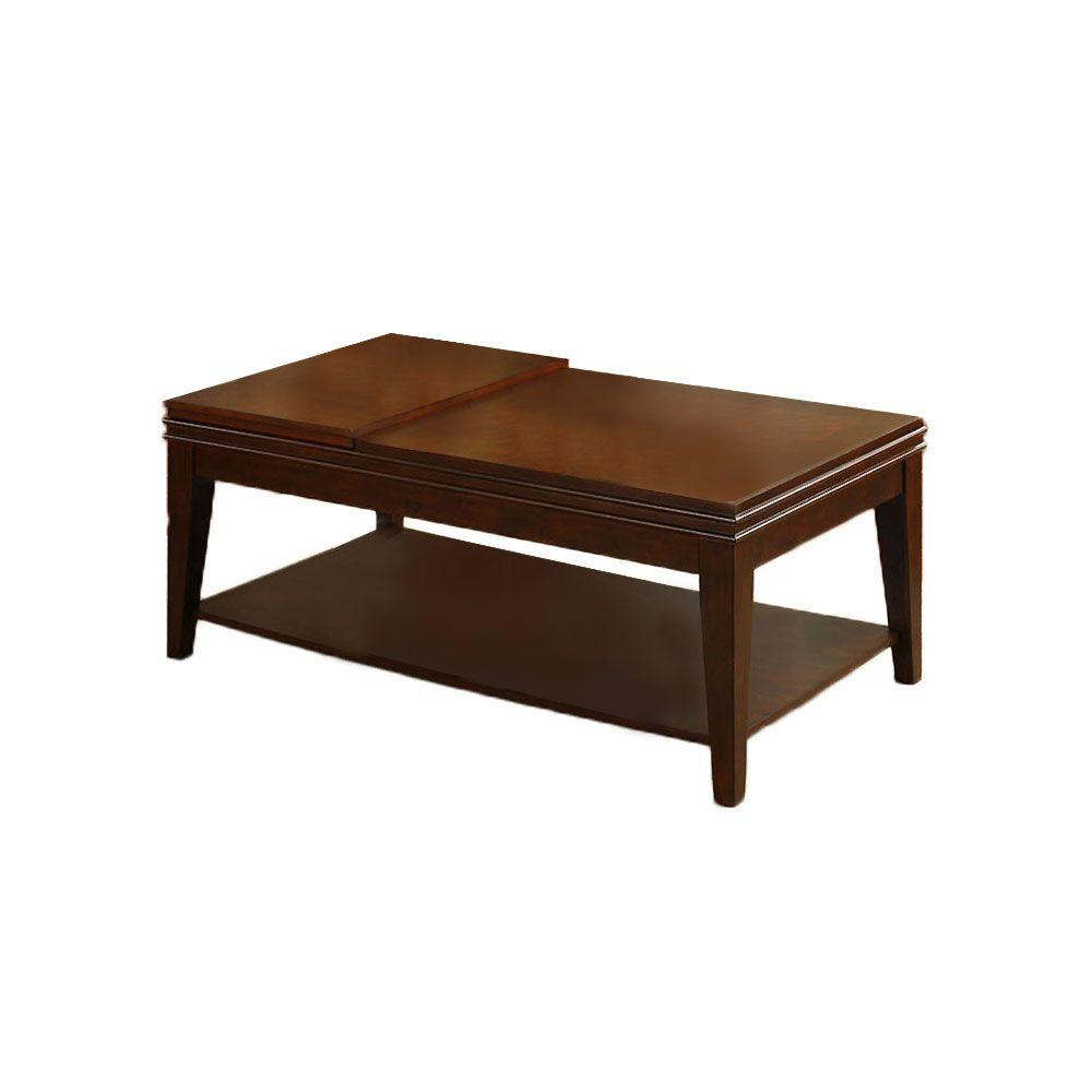 Furniture of America Richmond Dark Cherry Coffee Table with Flip-top Tray-DISCONTINUED