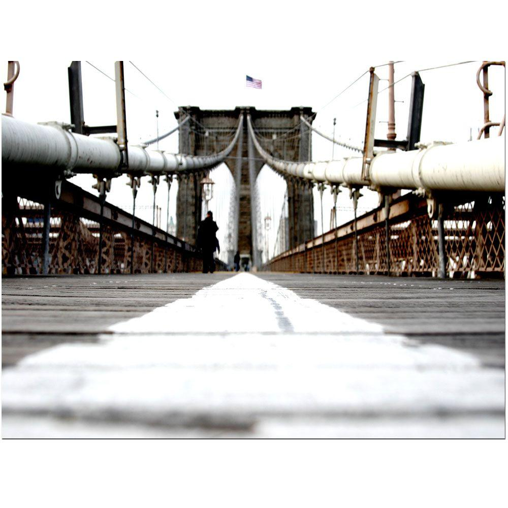 14 in. x 19 in. Brooklyn Bridge Canvas Art
