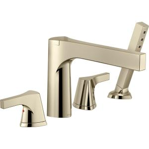 High Quality Zura 2 Handle Deck Mount Roman Tub Faucet Trim Kit With Hand Shower In