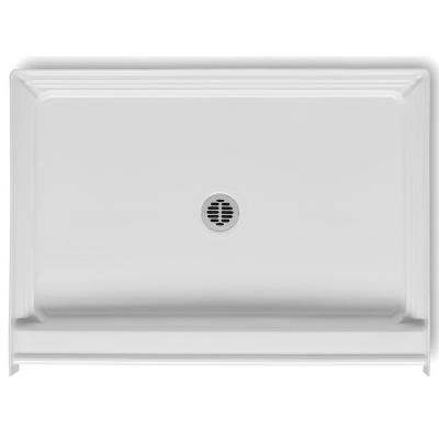 A2 48 in. x 34 in. Single Threshold Center Drain Shower Pan in White