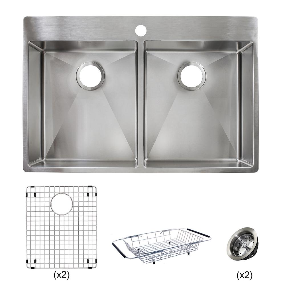 Vector all in one dual mount stainless steel 33 in 1 hole