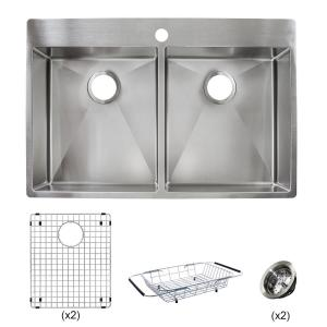 Franke Vector All In One Dual Mount Stainless Steel 33 In