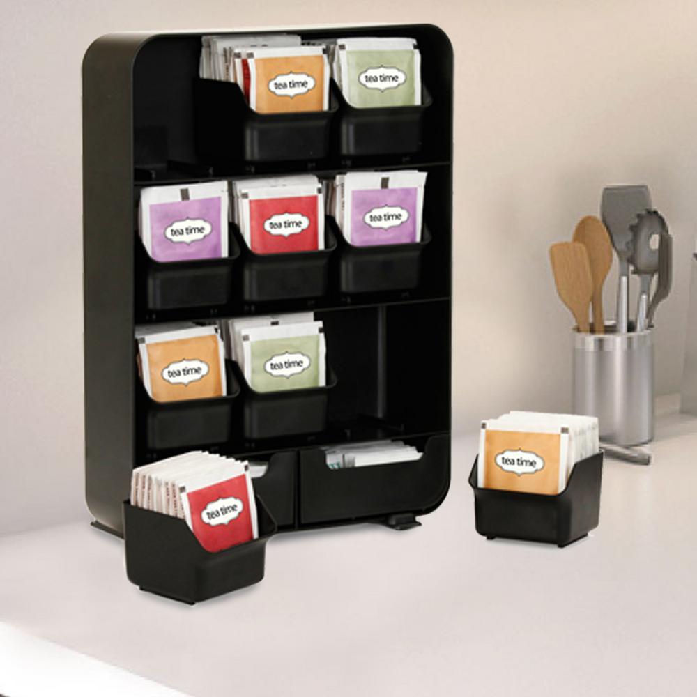 135-Bag Black Tea Bag Holder and Tea Accessory Rack