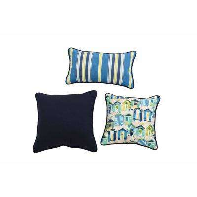 Beach Club Capri Square Outdoor Throw Pillow 3-Pillow Included