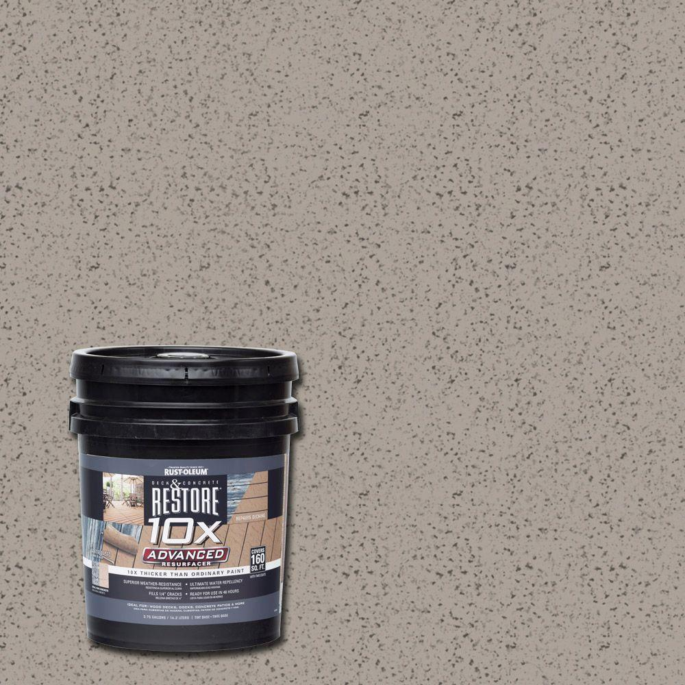4 gal. 10X Advanced Brownstone Deck and Concrete Resurfacer