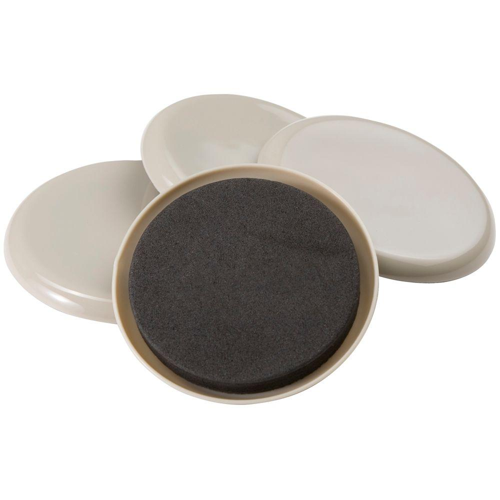 3-1/2 in. Round Reusable Slider (4 per Pack)