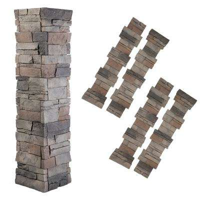Stacked Stone 1.5 in. x 11.25 in. Kenai Faux Pillar Panel (4-Pack)