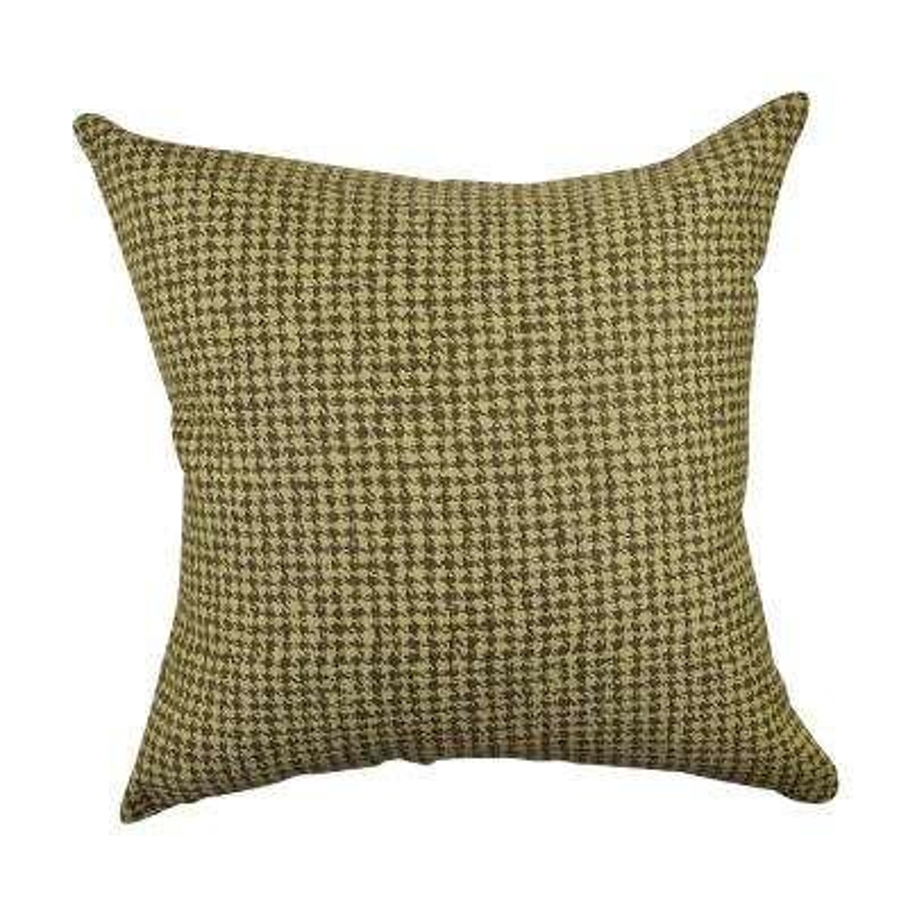 Tan Houndstooth Woven Throw Pillow
