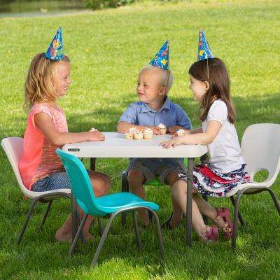 5-Piece Blue and Almond Children's Table and Chair Set