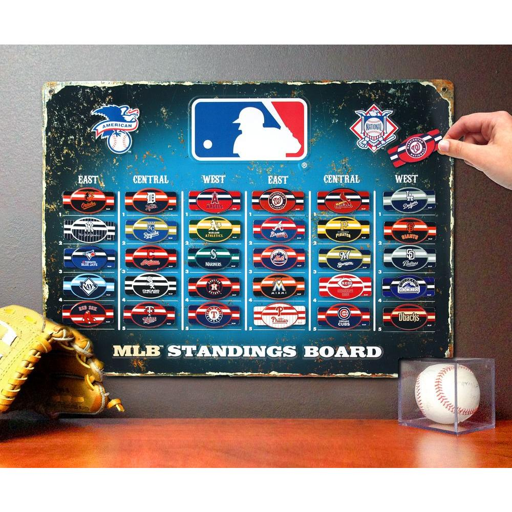 Party Animal 18 5 In H X 13 5 In D Mlb Magnetic Standings Board Wall Art Sbmlb The