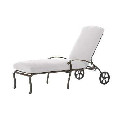 Ridge Falls Aluminum Outdoor Chaise Lounge with Cushion Insert (Slipcovers Sold Separately)