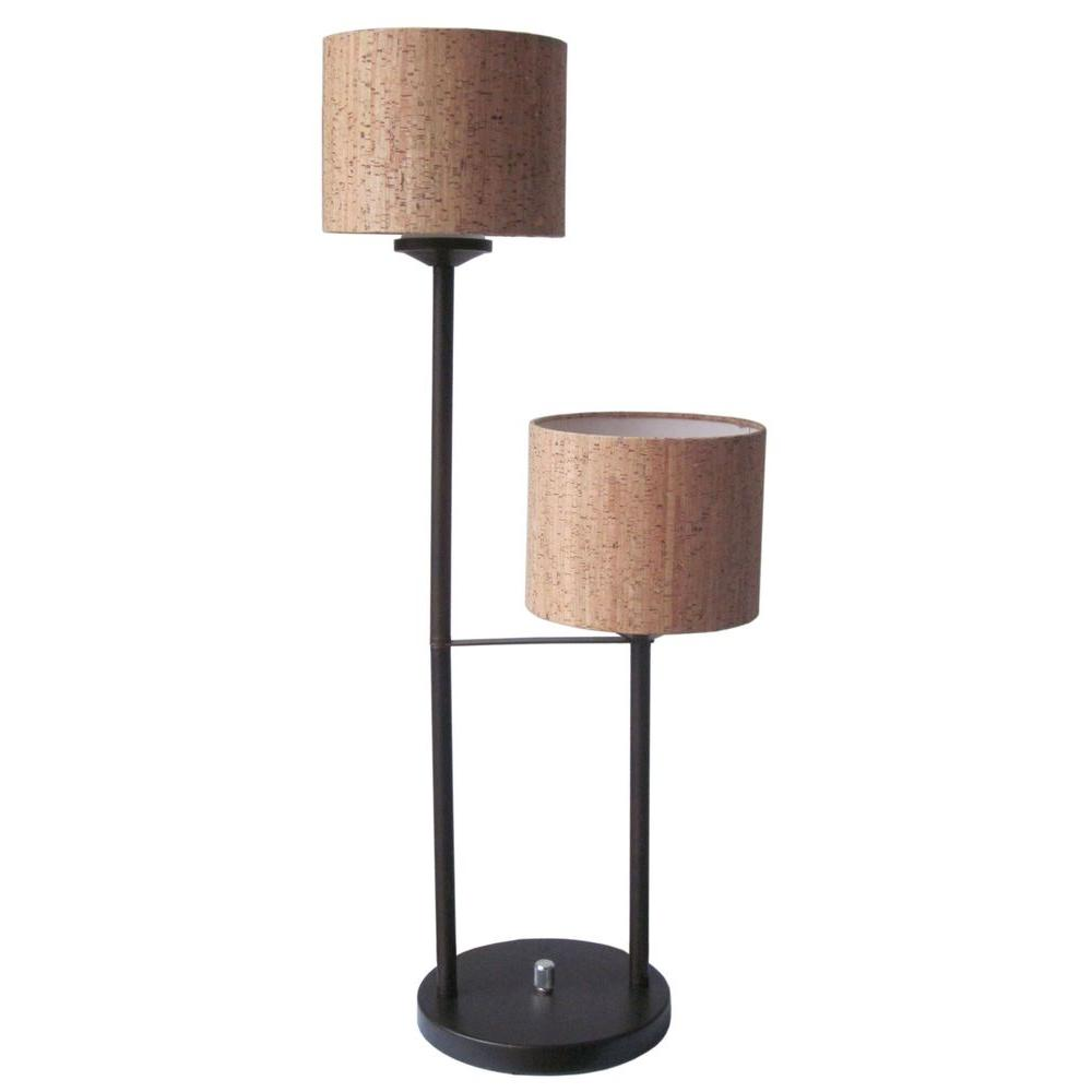 Fangio Lighting 28 in. Iron Double Light Table Lamp, Oil Rubbed Bronze-DISCONTINUED