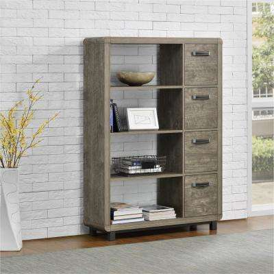 Eastlin Brown Bookcase with Bins