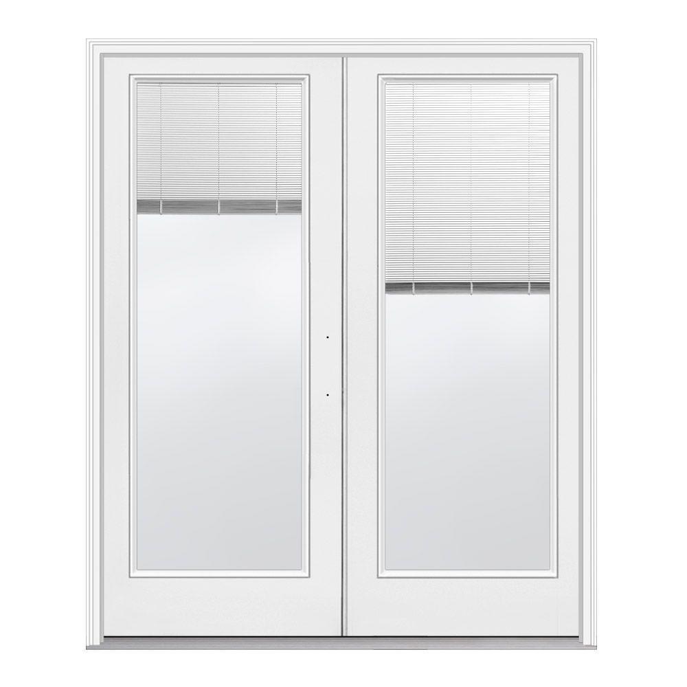 Jeld wen 72 in x 80 in primed white left hand inswing for Home depot fiberglass french doors