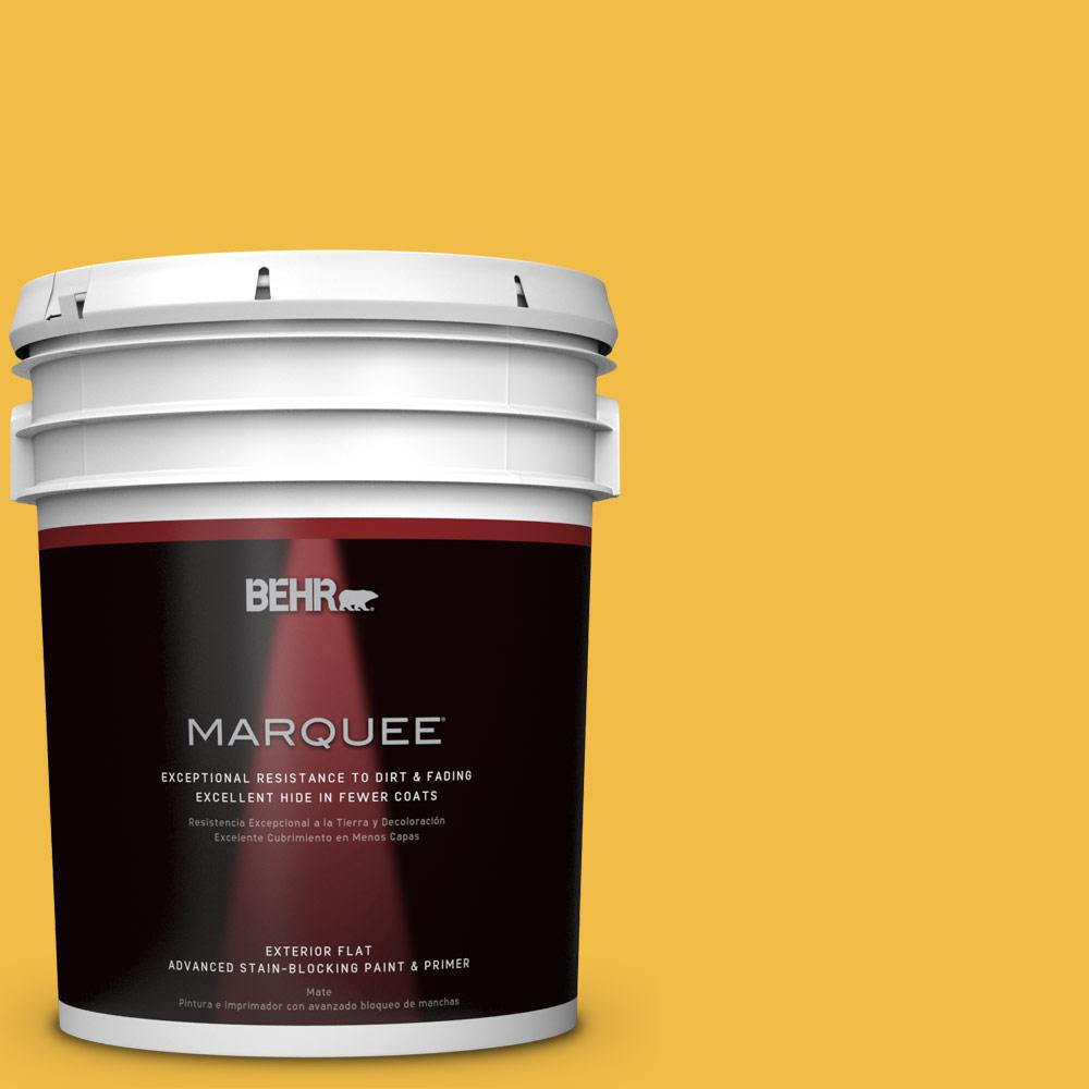 BEHR MARQUEE 5-gal. #P280-6 Bling Bling Flat Exterior Paint