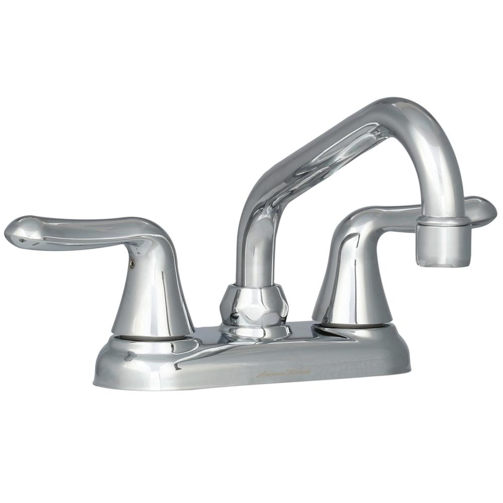 Colony Soft 4 in. 2-Handle Low-Arc Laundry Faucet in Polished Chrome