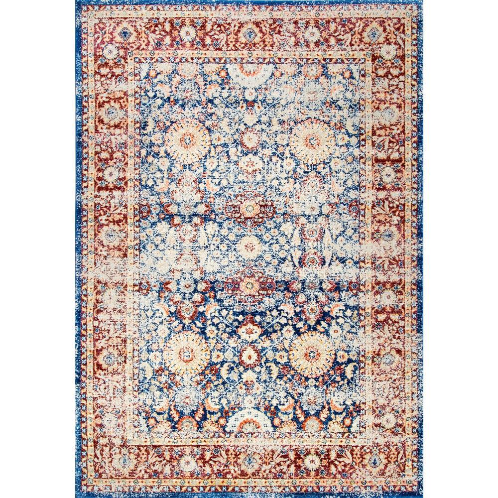 NuLOOM Vintage Persian Zoila Blue 9 Ft. X 12 Ft. Area Rug