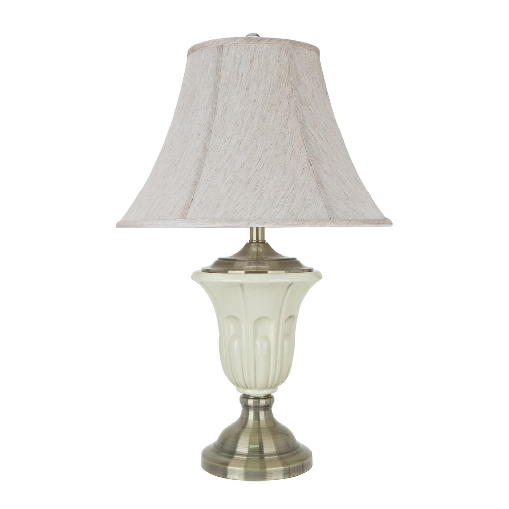 Aspen Creative Corporation 28 1 2 In Ivory Porcelain Table Lamp With Antique