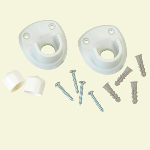 Closet Rod Side Wall Bracket for 3/4 in. Rod (2-Pack)