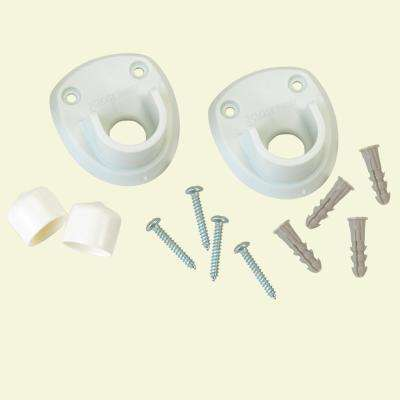 3 in. Closet Rod Side Wall Bracket (2-Pack)
