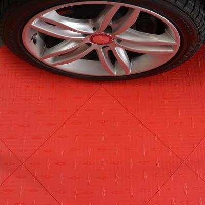 15.75 in. x 15.75 in. Racing Red Diamond Trax 25-Tile Modular Flooring Pack (43 sq. ft./case)