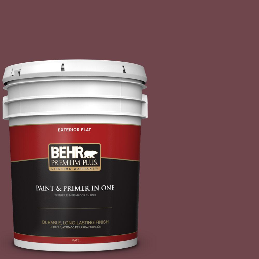 5 gal. #PPU1-14 Formal Maroon Flat Exterior Paint
