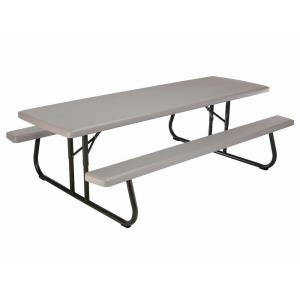 Lifetime 57 In X 96 In Commercial Grade Picnic Table
