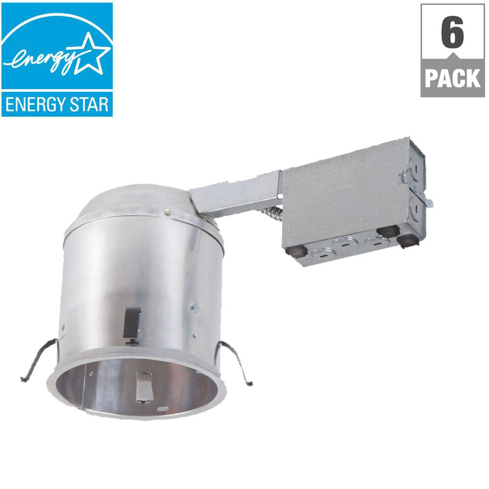 halo h750 6 in aluminum led recessed lighting housing for remodel