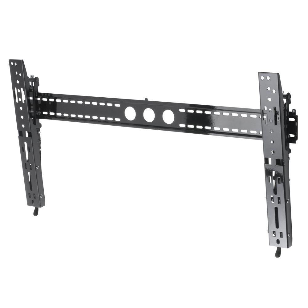 AVF Super-Slim 1 in. Tilt Large/Metallic Black Wall Mount for 37-70 in. screens Perfect for slim LED and LCD TVs-DISCONTINUED