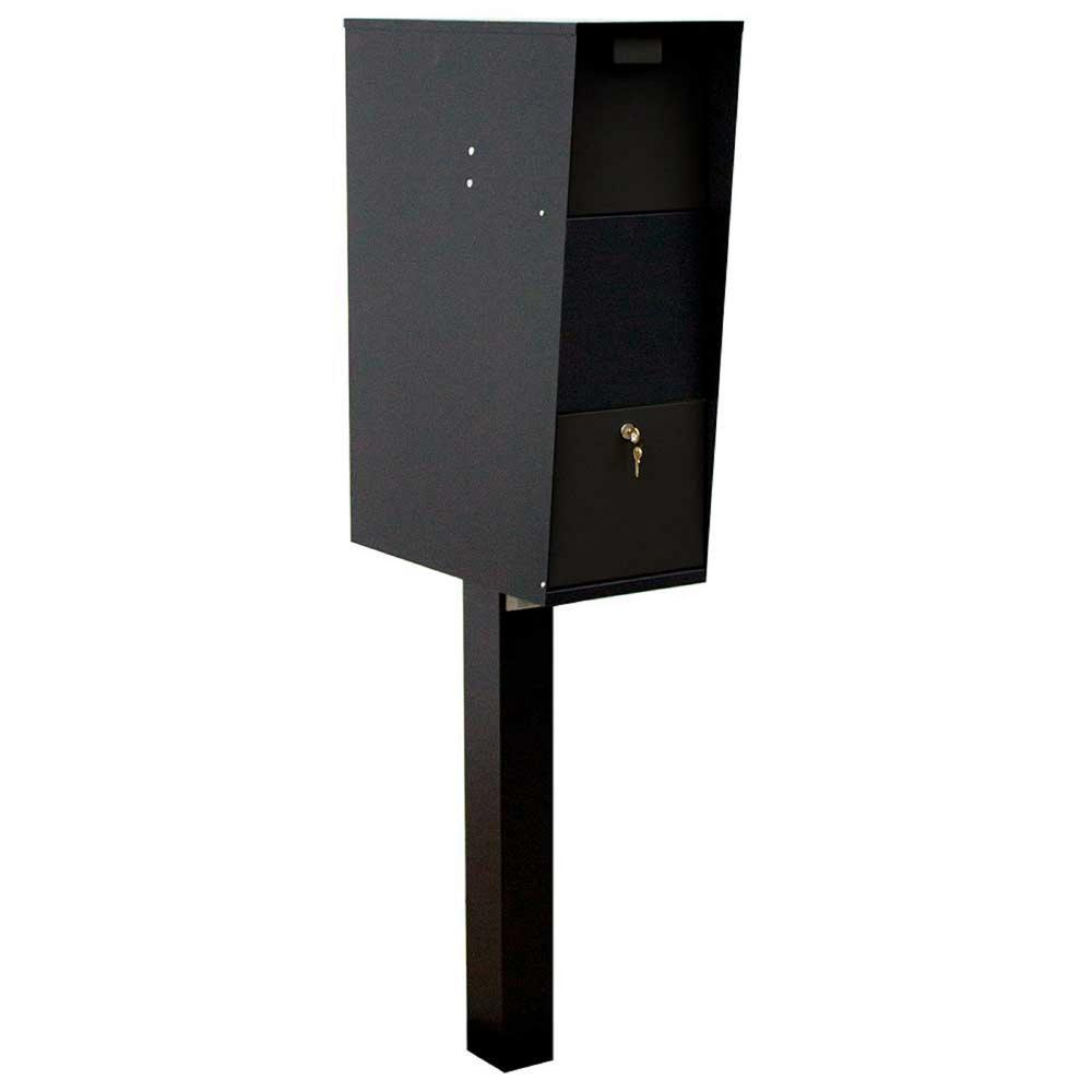Vacation Black Post Mounted Locking Mailbox
