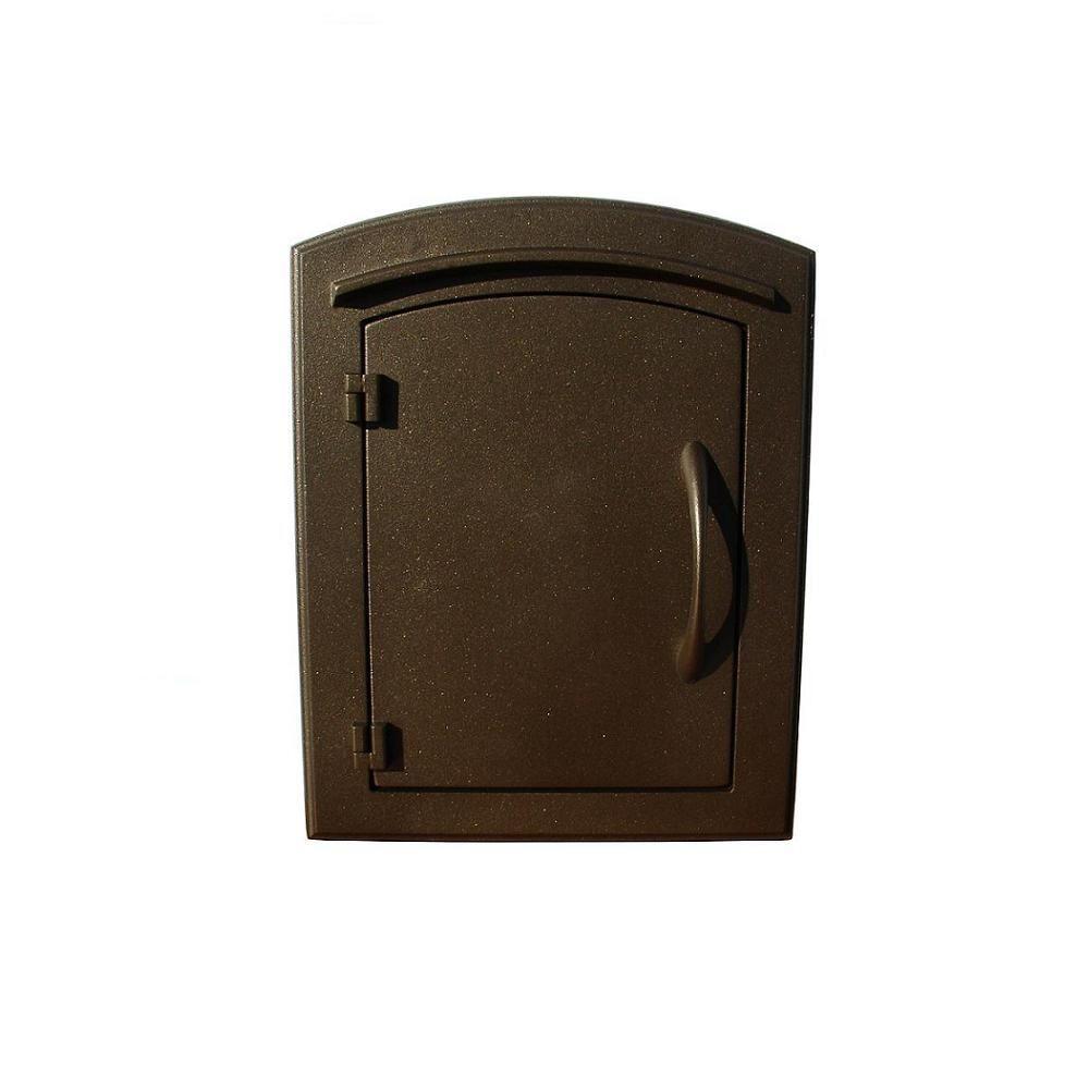 Manchester Bronze Wall-Mount Plain Door Mailbox