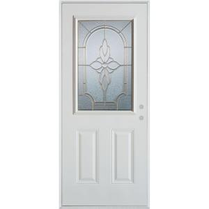 37.375 in. x 82.375 in. Traditional Zinc 1/2 Lite 2-Panel