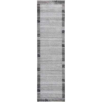 Del Mar Sarah Light Gray 2' 7 x 10' 0 Runner Rug