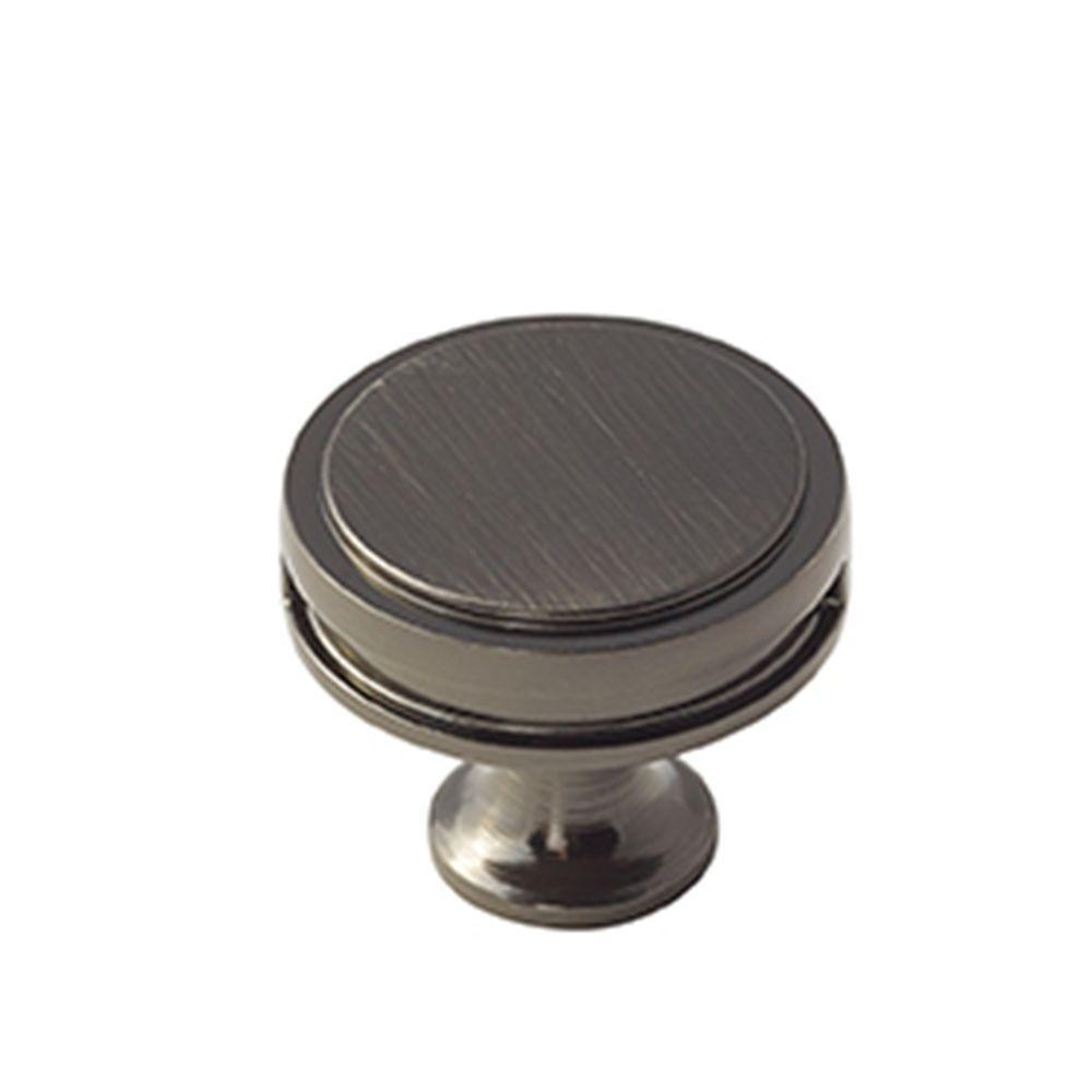Oberon 1-3/8 in. (35 mm) Gunmetal Cabinet Knob
