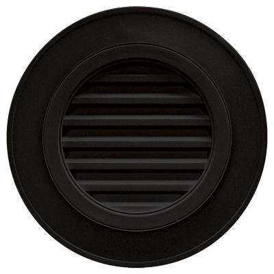 28 in. Round Gable Vent in Black (without Keystones)