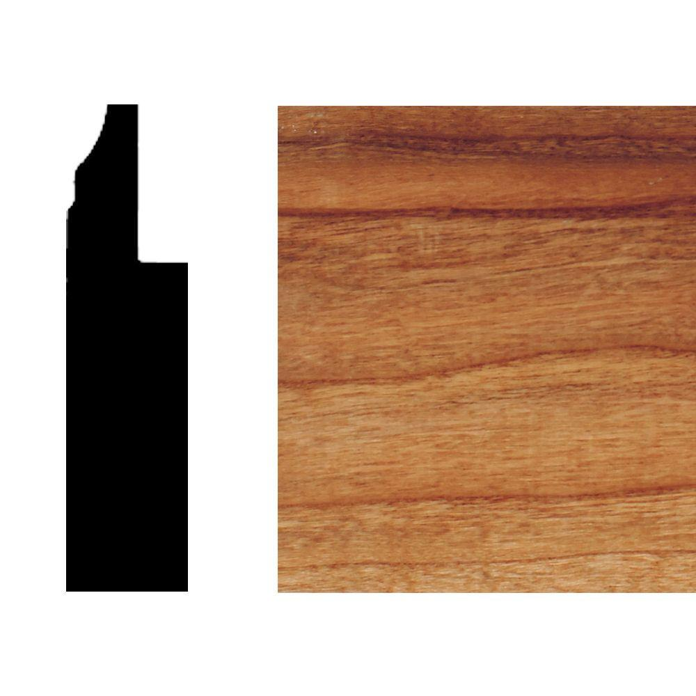 House of Fara 3/4 in. x 3 in. x 8 ft. Cherry Wainscot Base
