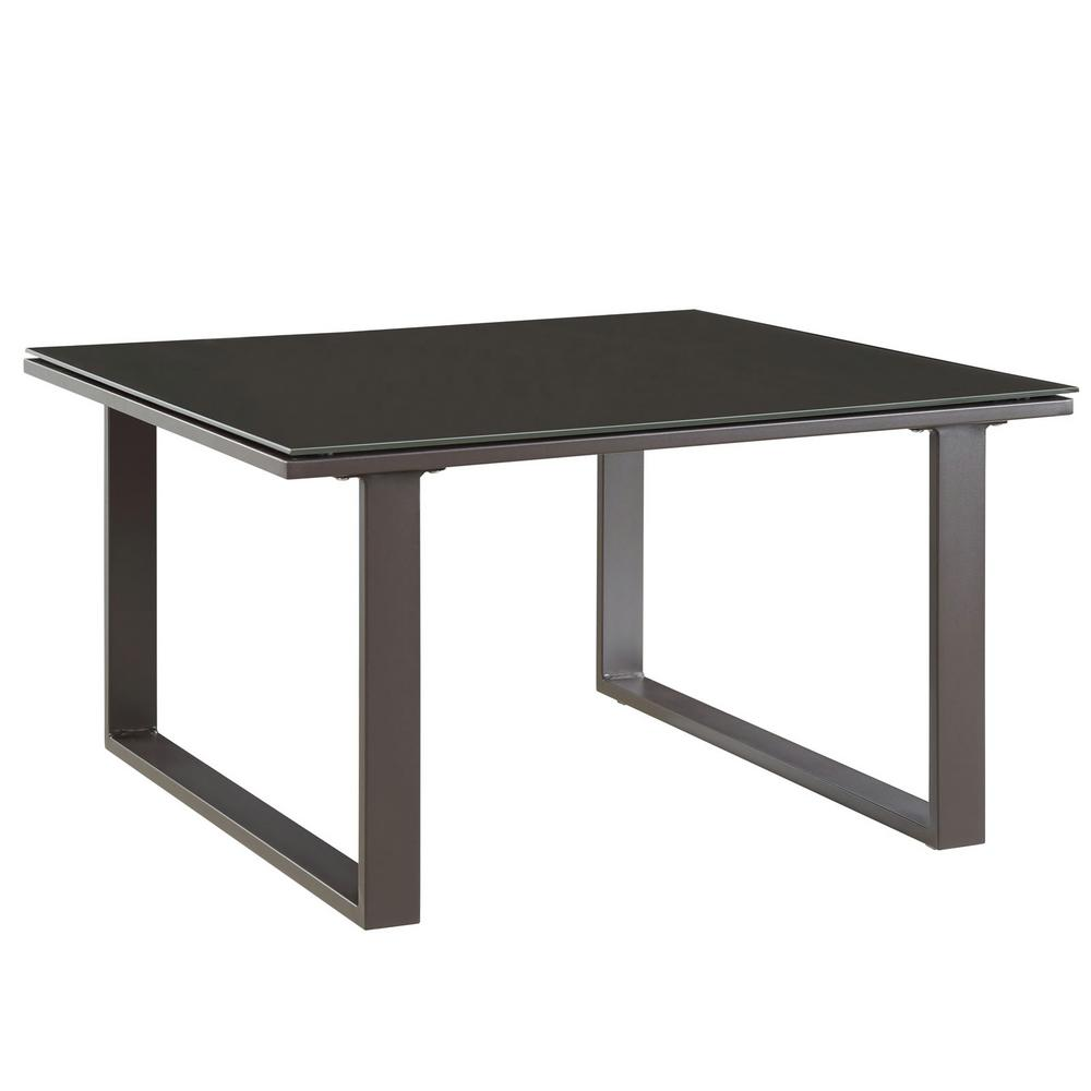 Fortuna Patio in Brown Aluminum Outdoor Side Table